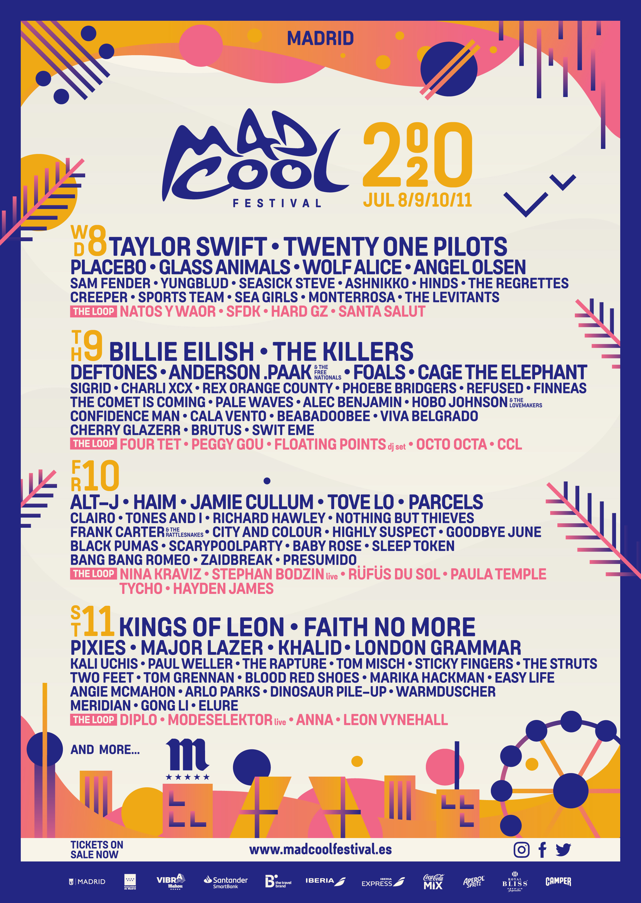 Glass Animals, Placebo and more added to Mad Cool 2020 lineup