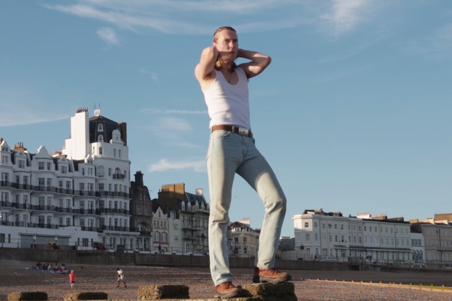 Alex Cameron heads to the seaside in the video for 'Runnin' Outta Luck'
