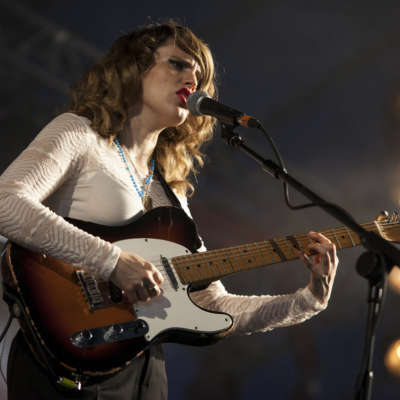 Anna Calvi soaks the stage with red at Latitude 2014