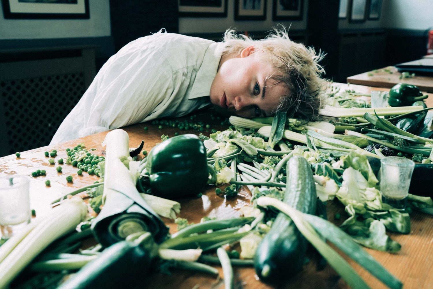 Annabel Allum battles inner conflict in the video for 'Eat Greens'