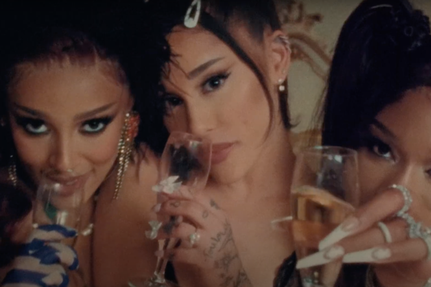 Ariana Grande links up with Doja Cat and Megan Thee Stallion for '34+35' remix video