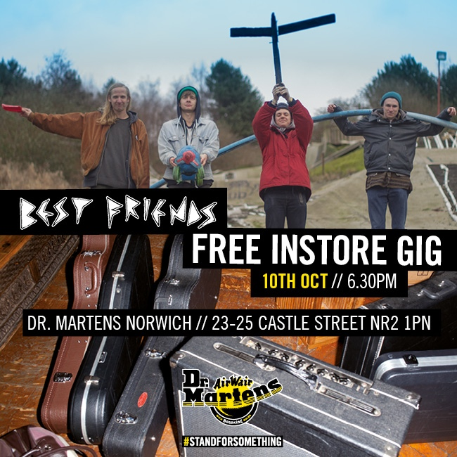 Best Friends to perform at Dr Martens' Norwich store this weekend