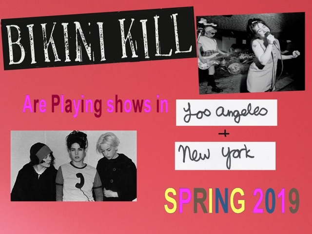Bikini Kill to reunite for trio of US live dates