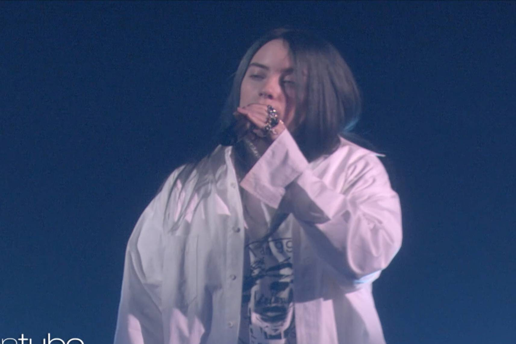 Watch Billie Eilish perform 'when the party's over' live on Ellen
