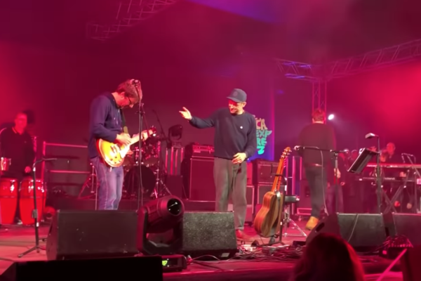 A surprise Blur reunion happened at the weekend...