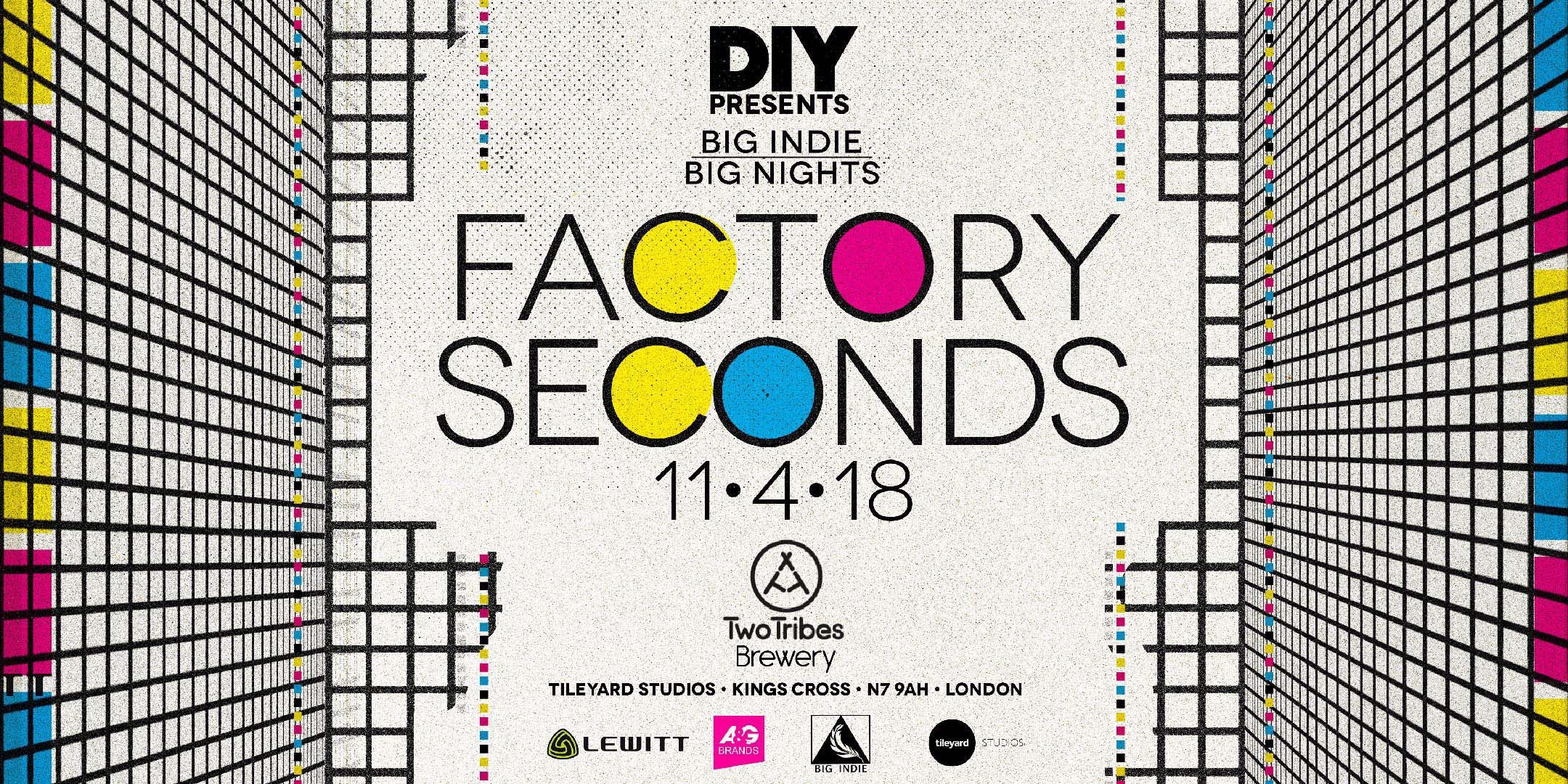 DIY are teaming up with Big Indie for a series of new band shows, starting with Factory Seconds!