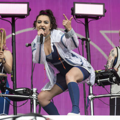 Charli XCX opens Glastonbury's Other Stage with a pink, streamer-filled celebration