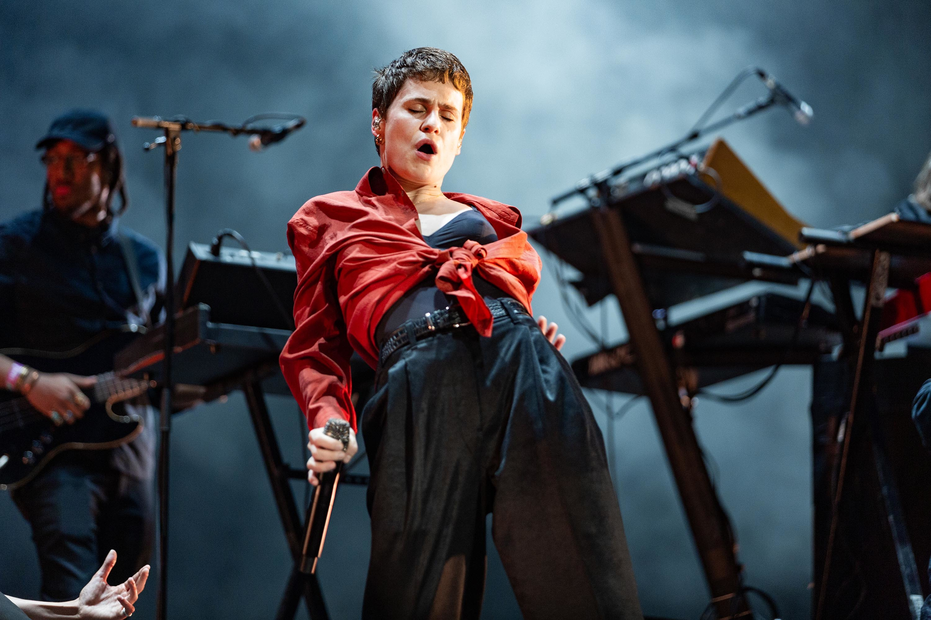 Christine and the Queens battles the elements in style at All Points East