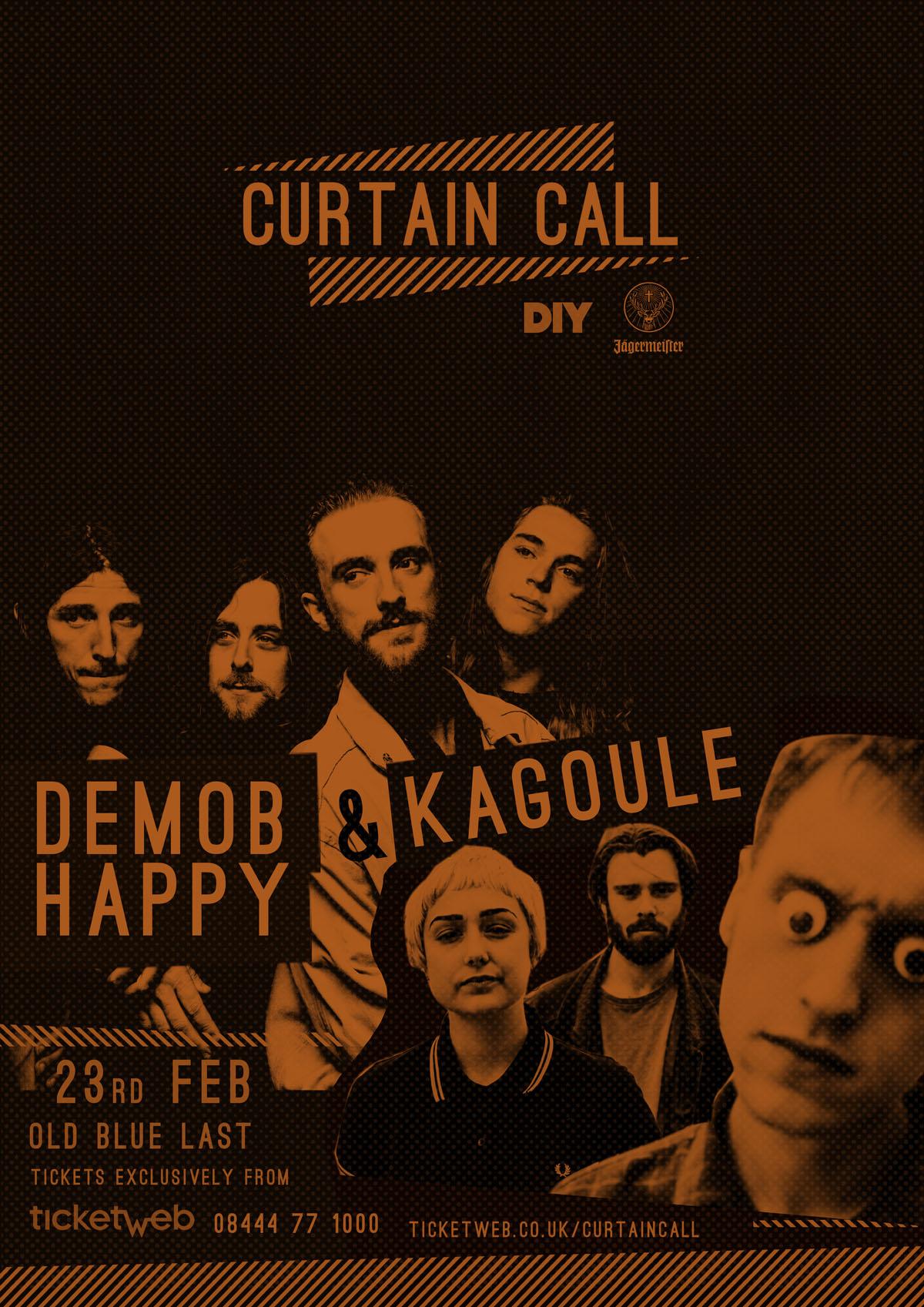 Demob Happy to join Kagoule for DIY & Jägermeister's Curtain Call