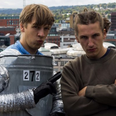 Eoin from Drenge sightsees around Sheffield as a robot in 'Outside' video