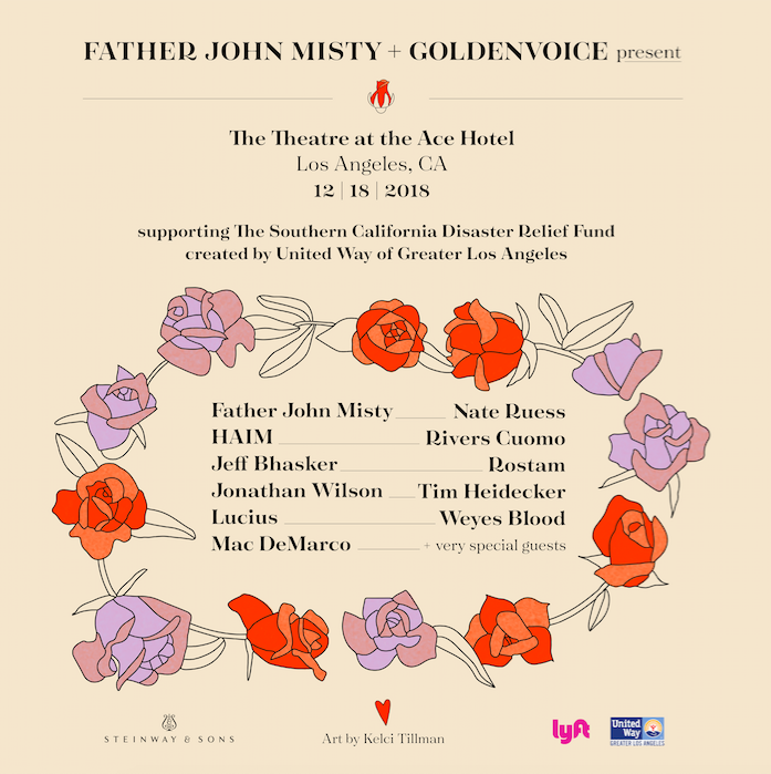 Father John Misty to host Southern California wildfire benefit show
