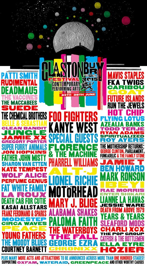 Glastonbury Festival announces Florence + The Machine, Alt-J, Caribou & more