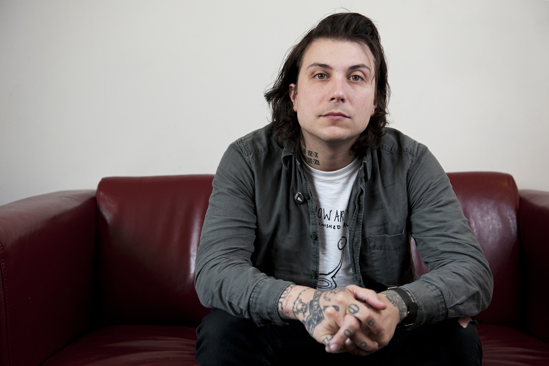 "Frank Iero: ""I think I'm getting more comfortable"""
