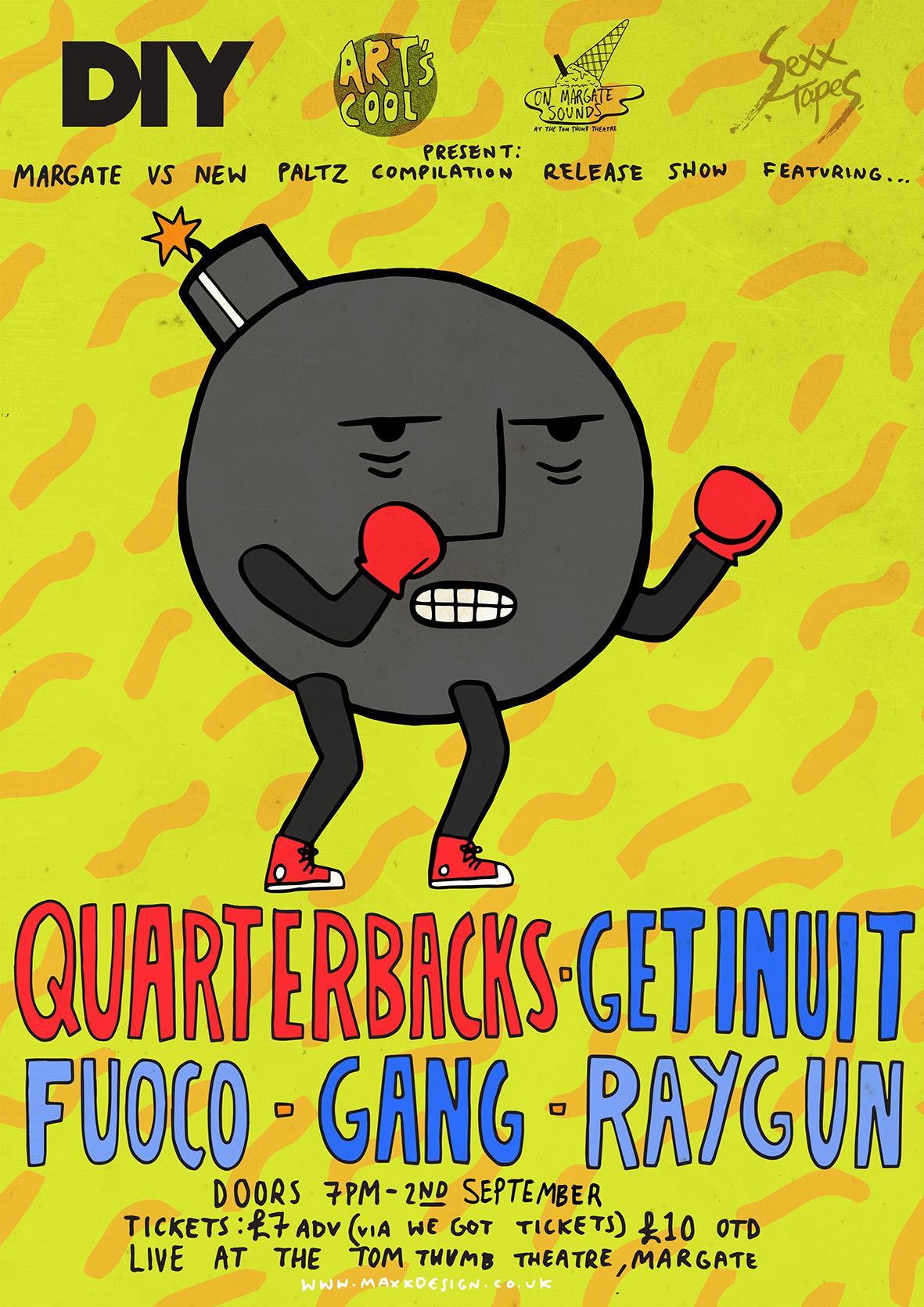 Quarterbacks, Get Inuit, Gang & more sign up for DIY Presents Margate vs New Paltz show