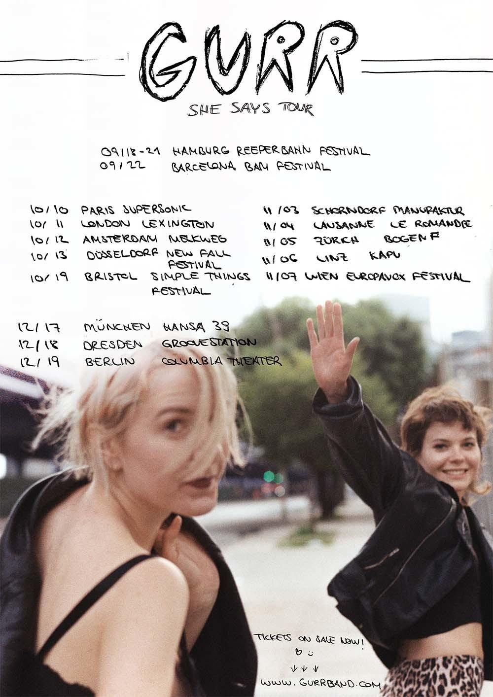 Gurr announce European tour