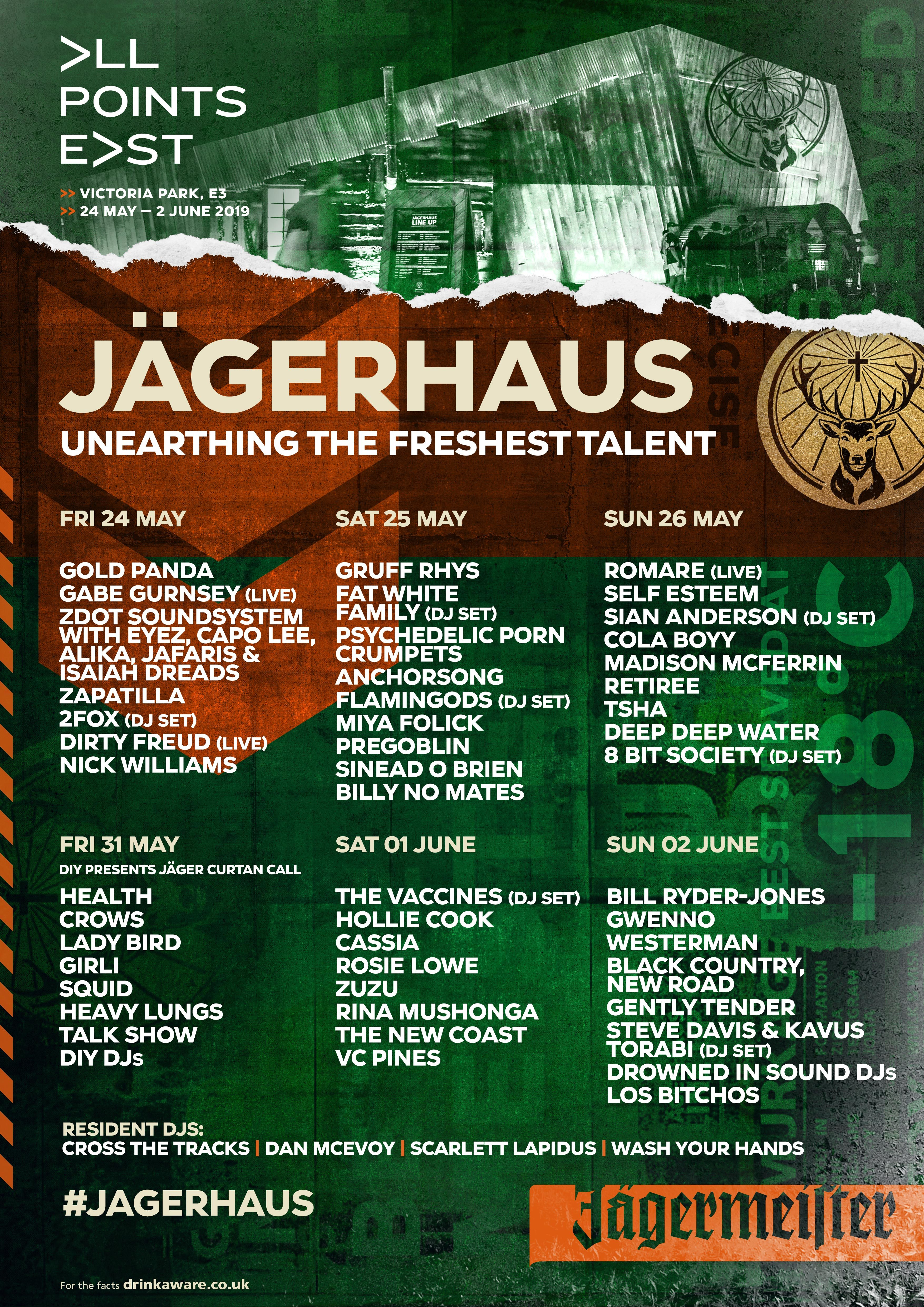 HEALTH, Crows, Lady Bird and more to play DIY's Jägerhaus takeover at All Points East