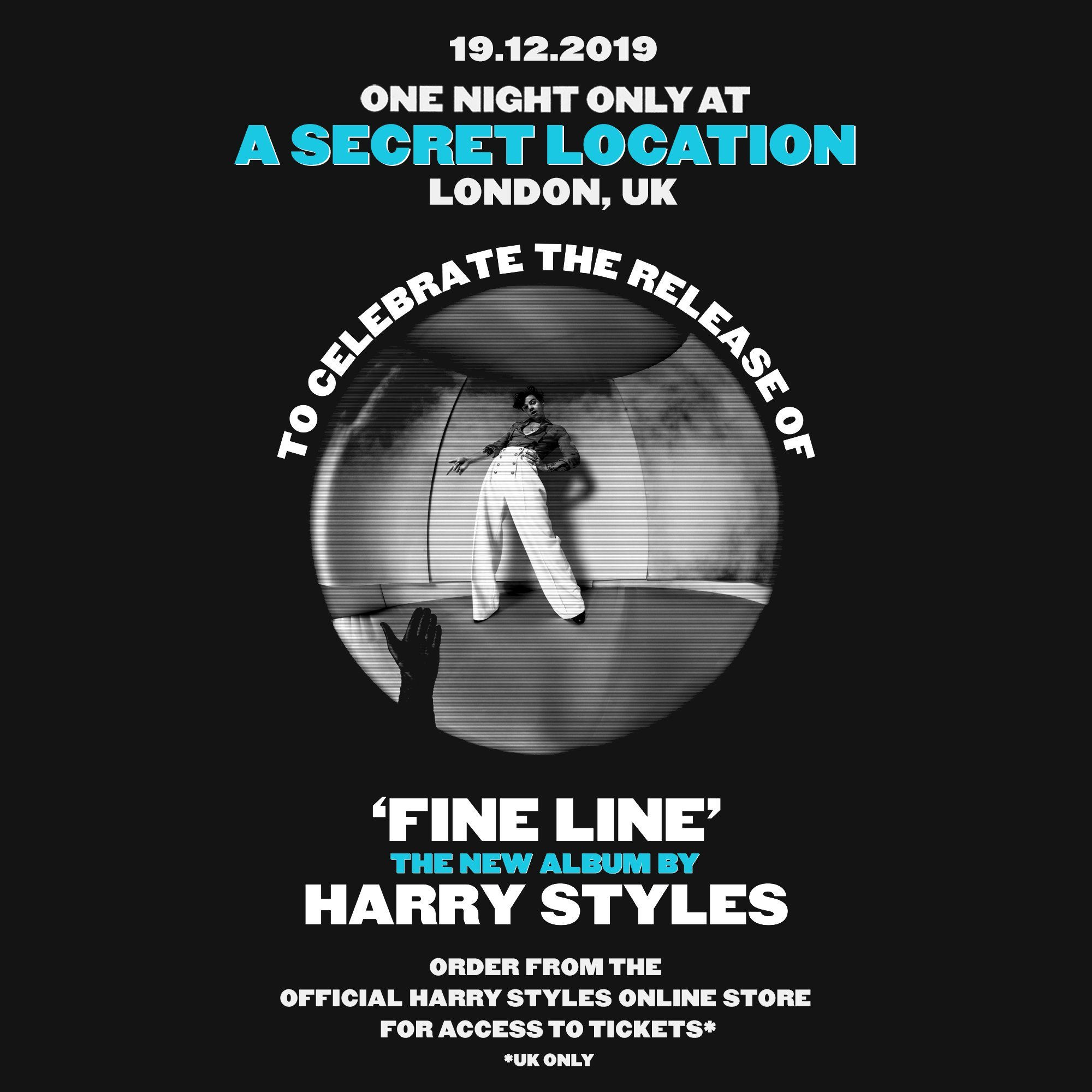 Harry Styles is playing a secret London location on 19th December