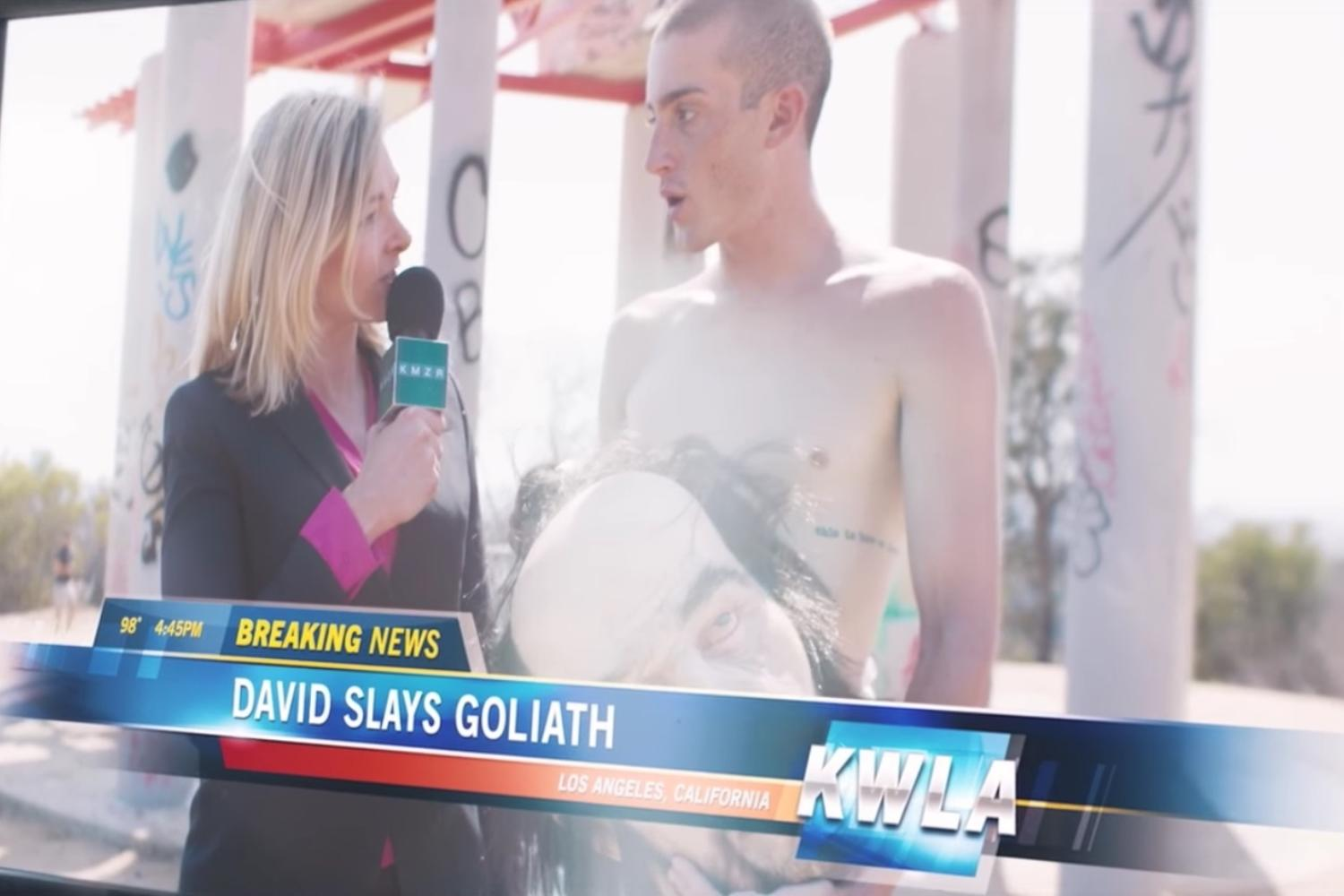 Watch David become Goliath in Holy Fuck's video for 'Neon Dad'