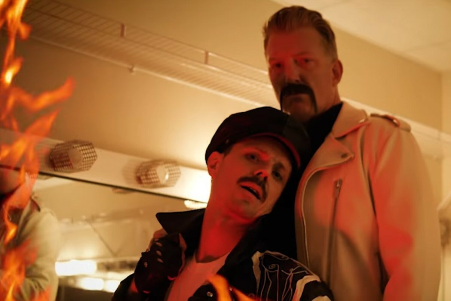 Josh Homme makes a cameo in Jake Shears' new video for 'Big Bushy Mustache'