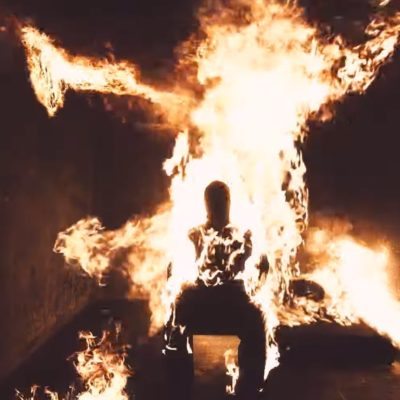 Kanye West sets himself on fire in new 'Come To Life' video