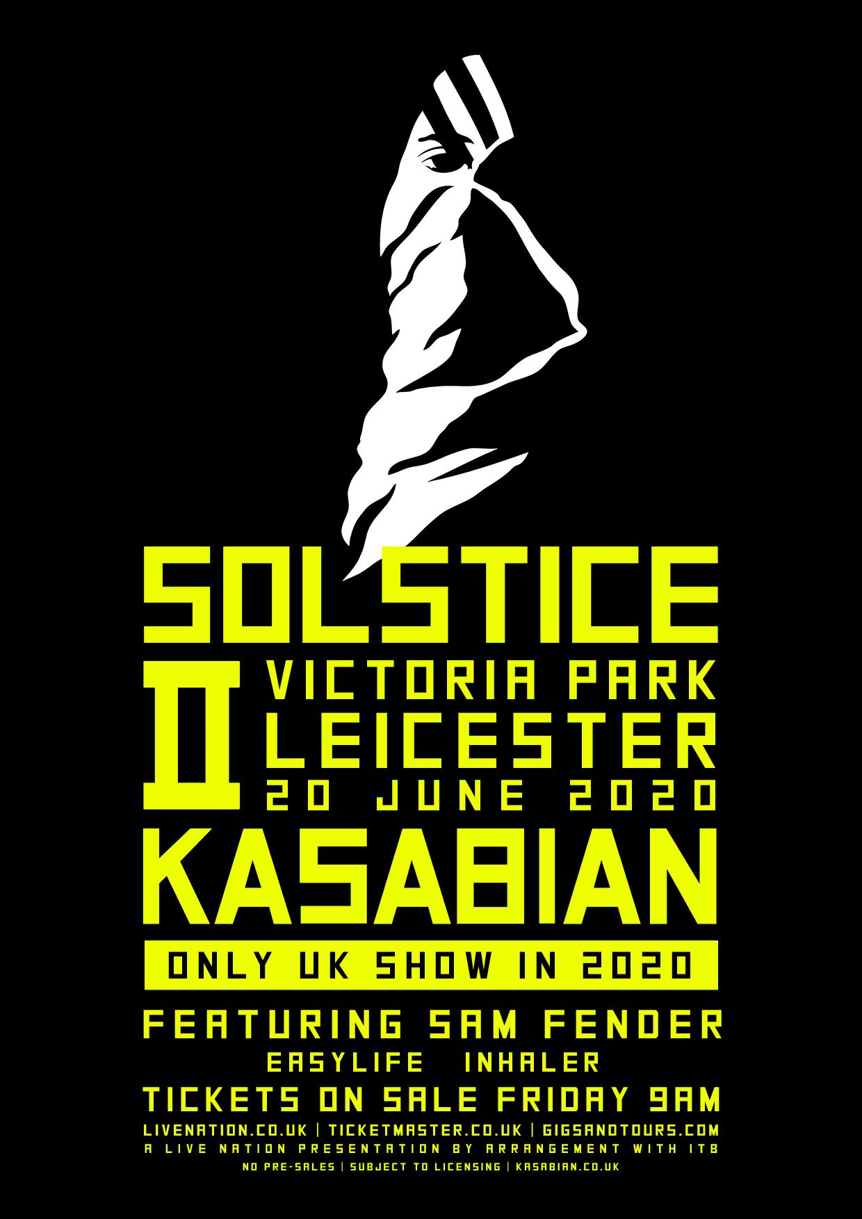 Kasabian announce huge hometown 2020 show