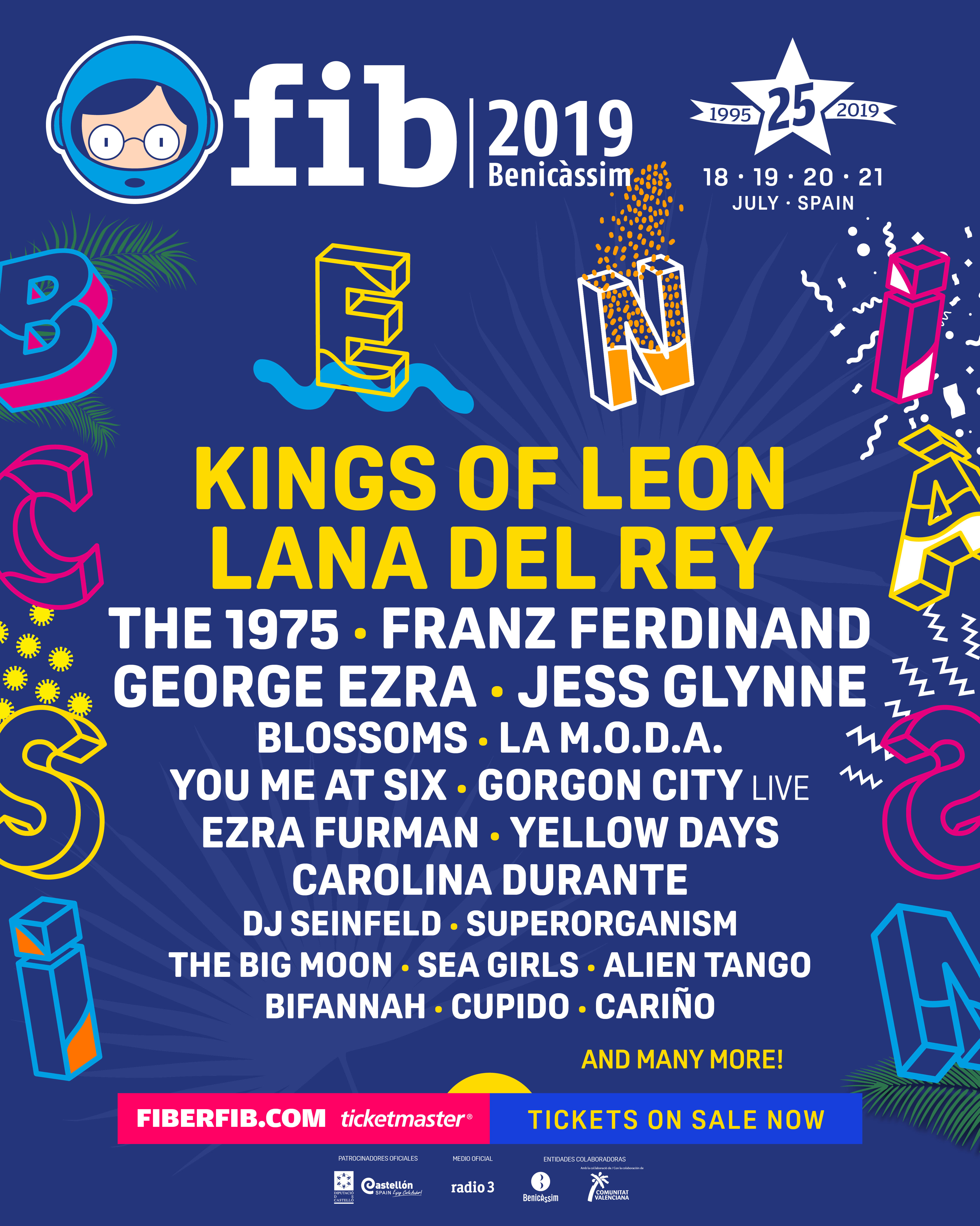 Lana Del Rey, Kings of Leon, The 1975 and more for Benicassim 2019