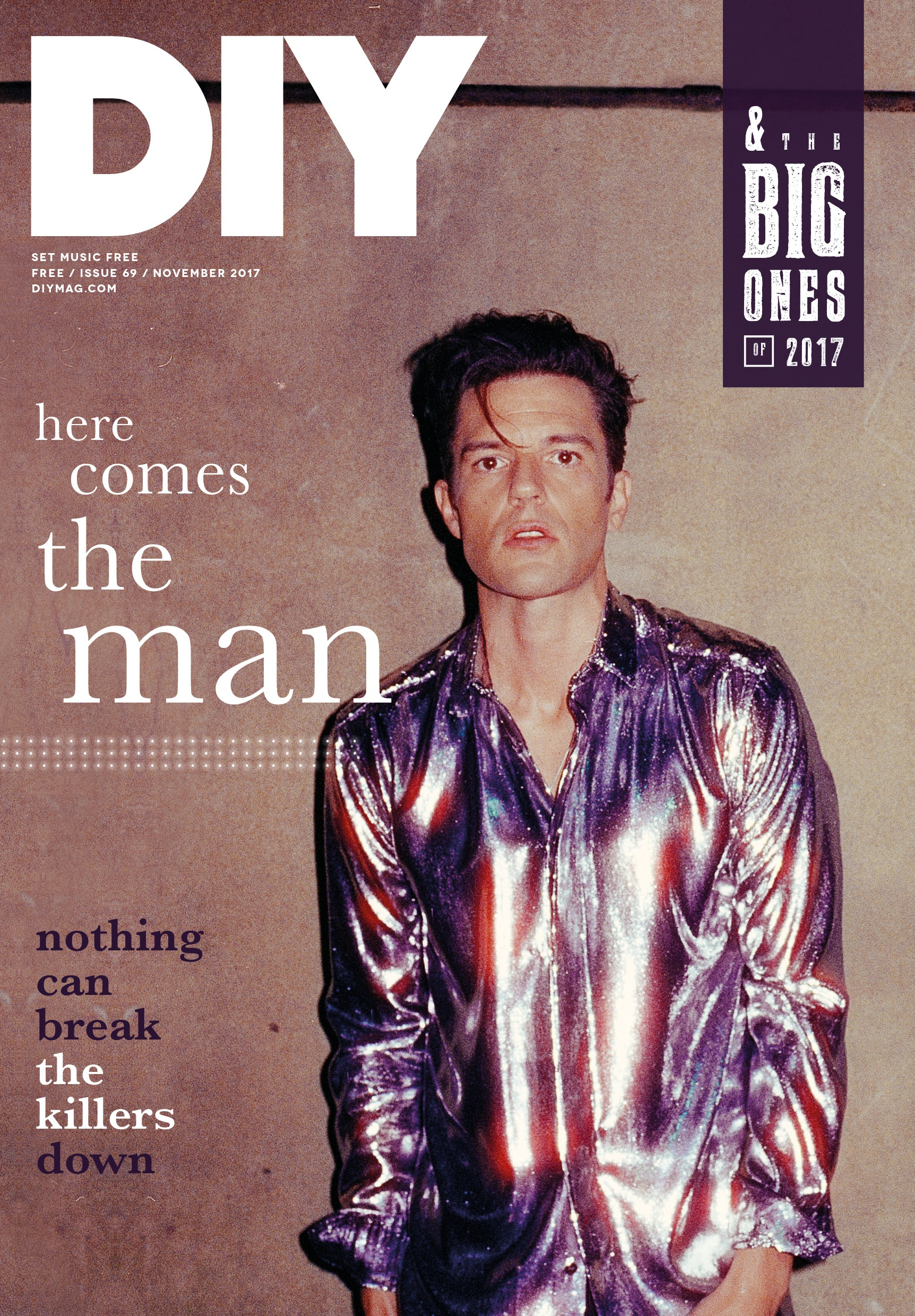 Here comes the man… The Killers are on the cover of the new issue of DIY!