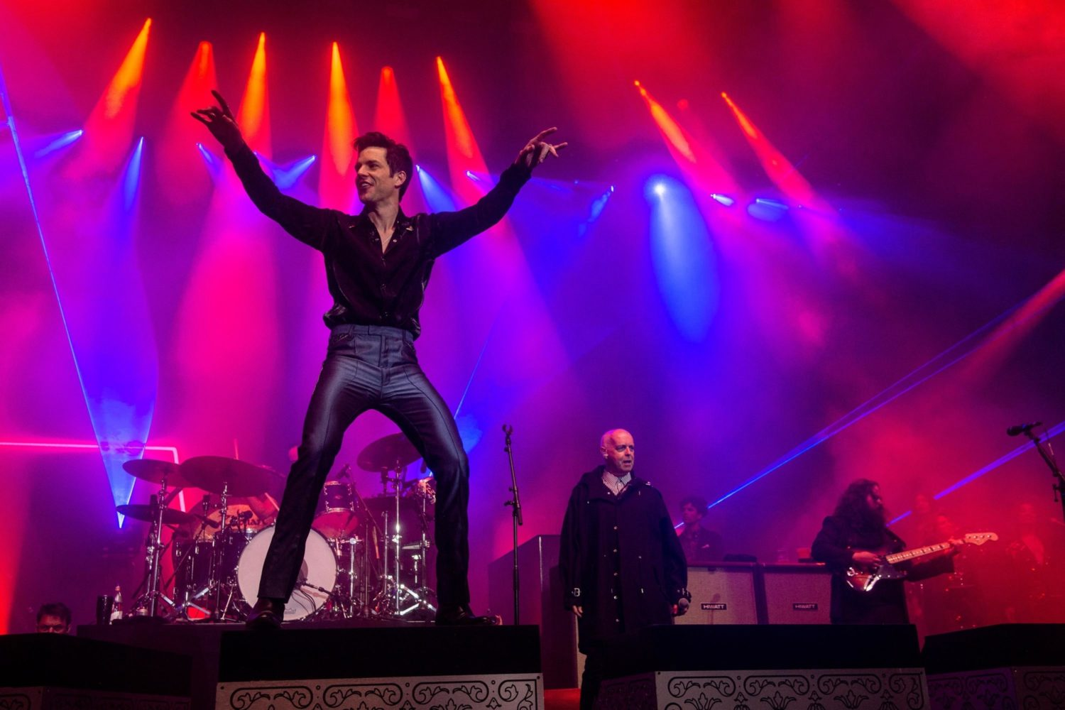 All Killers, no filler: Brandon and co bring relentless hits, guest stars and Jimmy Carr with a broom to Glastonbury