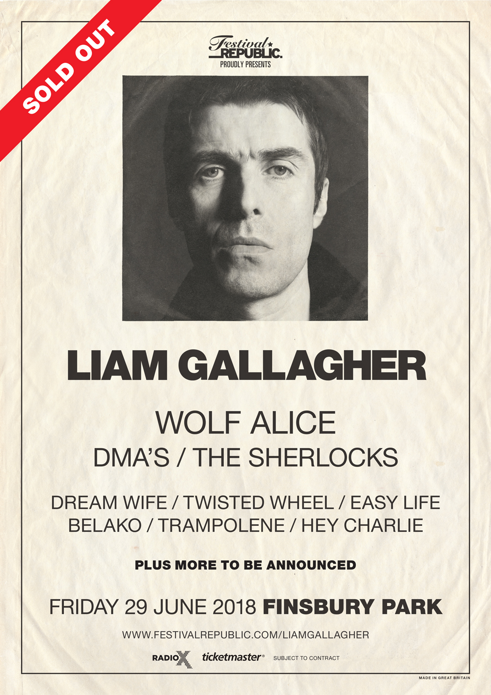 Wolf Alice, Dream Wife and more are supporting Liam Gallagher in Finsbury Park