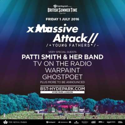 Win two tickets to Massive Attack, Young Fathers, Ghostpoet, Warpaint and more at BST Hyde Park!