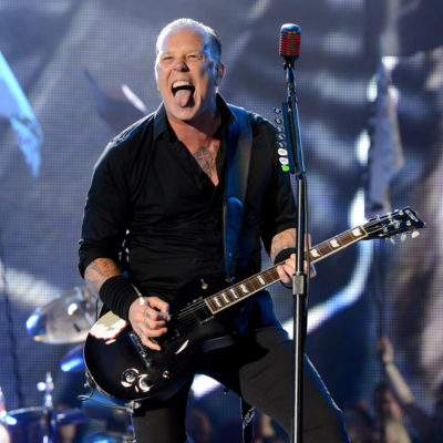 Metallica (heavy) rock their headline set at Glastonbury