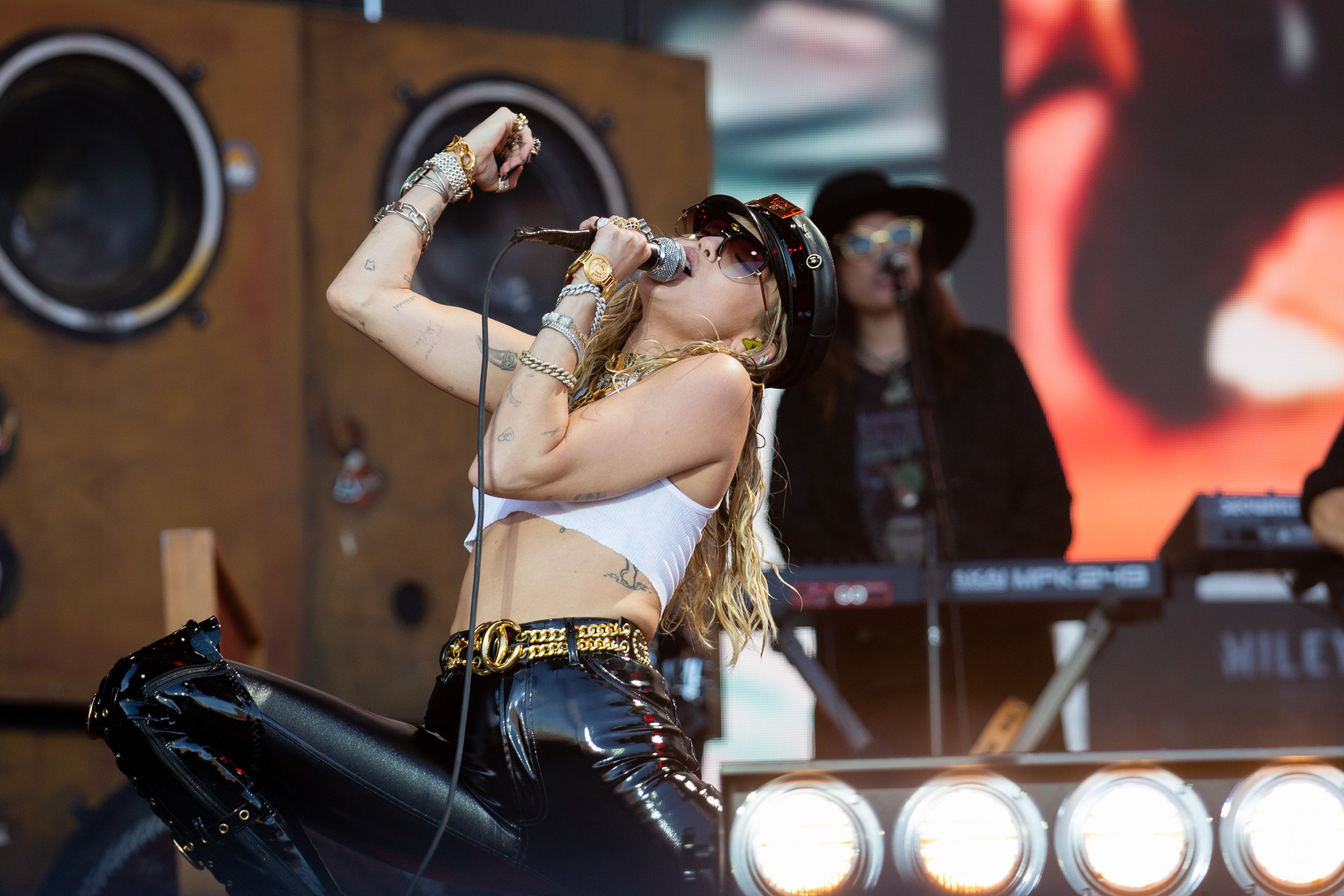 Kylie delivers pop perfection, plus Miley Cyrus, The Cure and more highlights from Sunday at Glastonbury