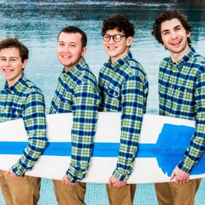 Surf's up! The Magic Gang are on the cover of the new issue of DIY