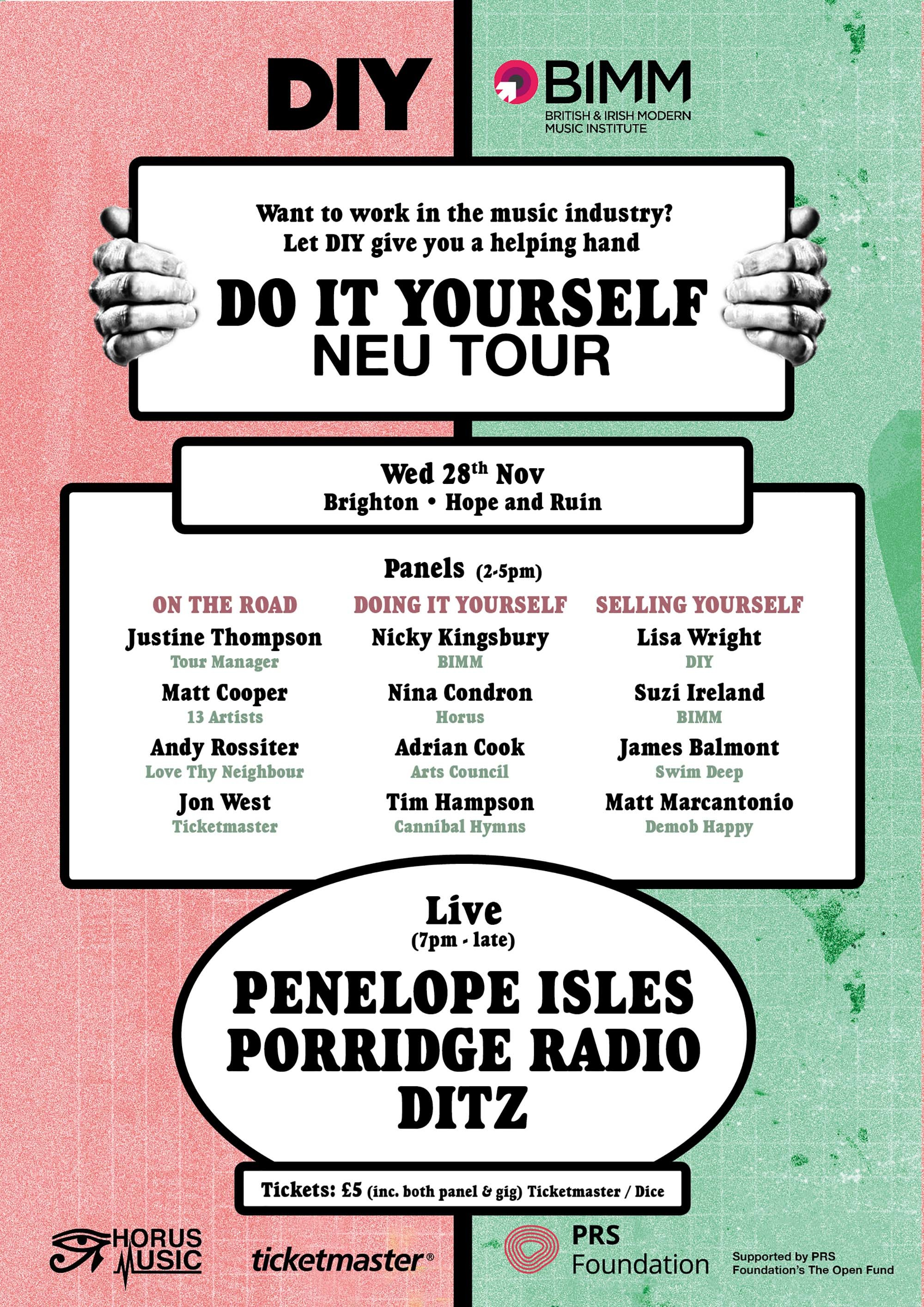 Peace, Pulled Apart by Horses, Dirty Hit, Live at Leeds and lots more to speak at DIY's Do It Yourself Neu Tour!
