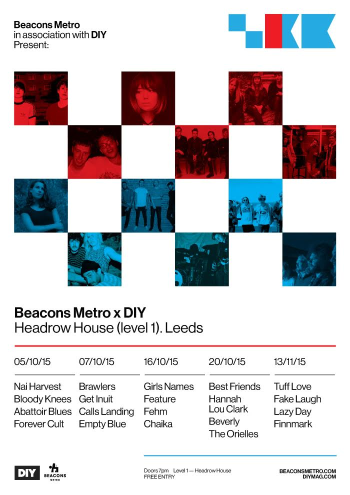 DIY Presents teams up with Beacons Metro for five Leeds shows, feat. Nai Harvest, Best Friends & more