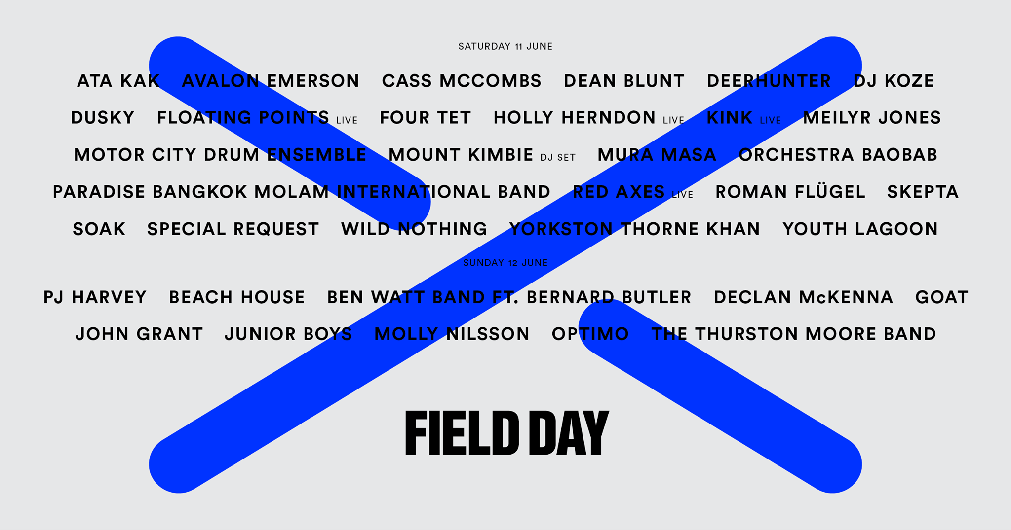PJ Harvey, Deerhunter, Four Tet to play Field Day London 2016