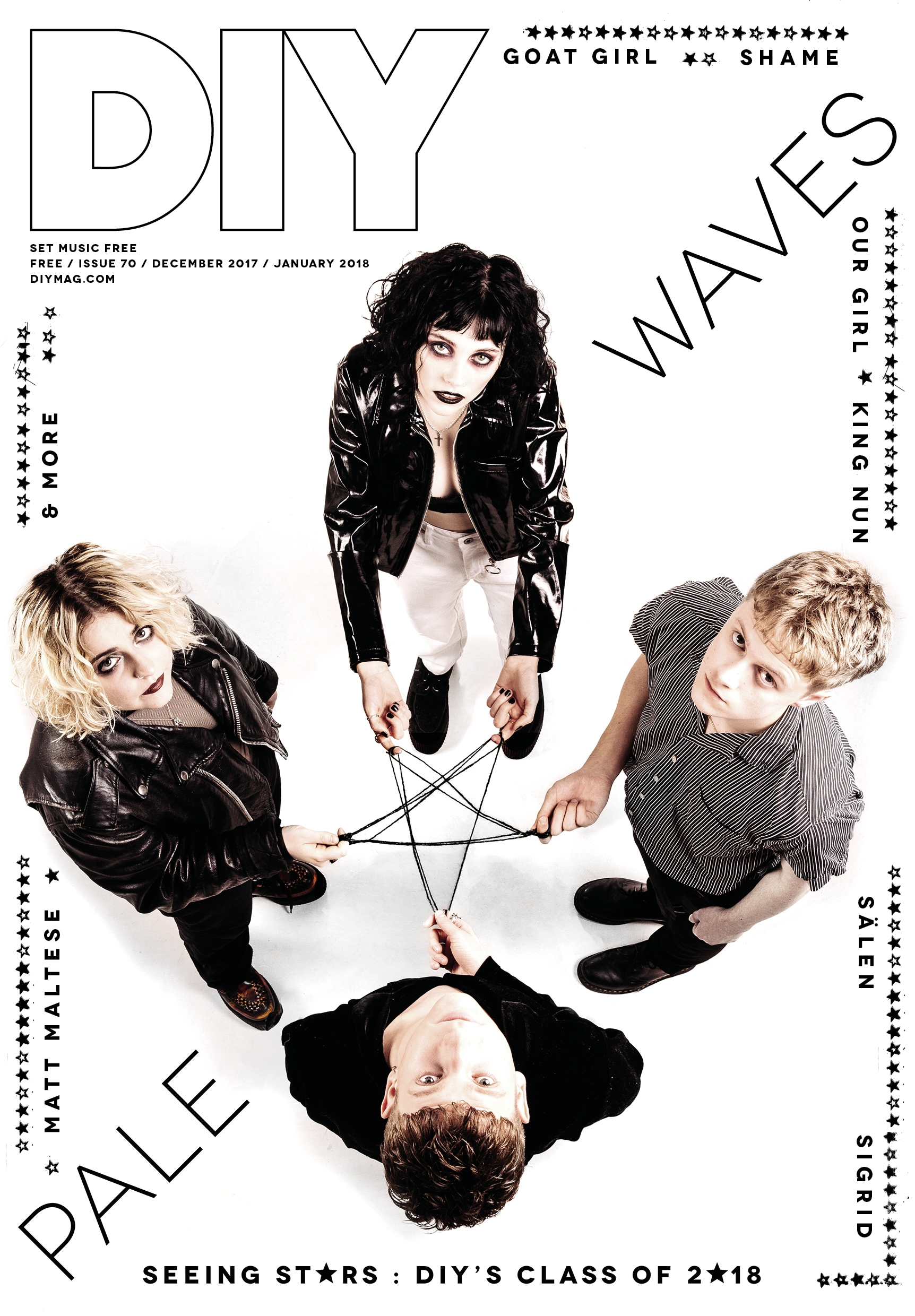 The Class Of 2018 issue of DIY - featuring Pale Waves, Sigrid, Shame and more - is out now!