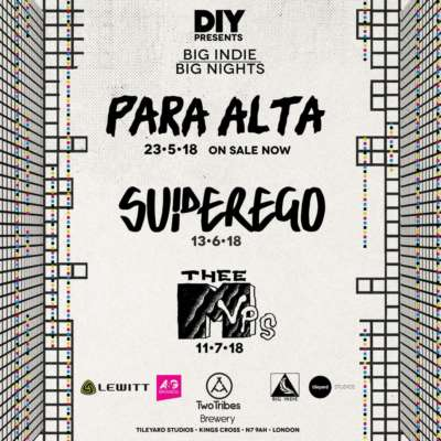 Para Alta, Superego and Thee MVPs are the next bands for Big Indie Big Nights!