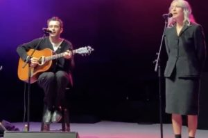 Watch Matty Healy and Phoebe Bridgers perform 'Jesus Christ 2005 God Bless America' live