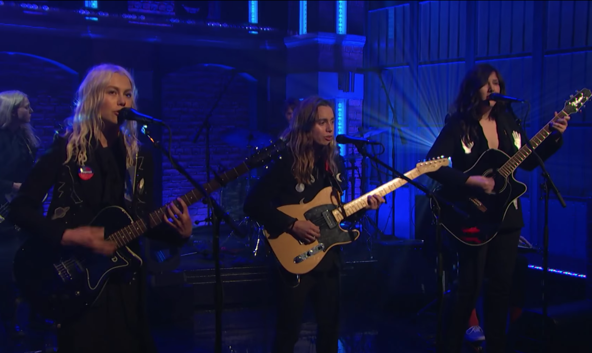 boygenius make their tv debut with 'Me & My Dog' on Seth Meyers