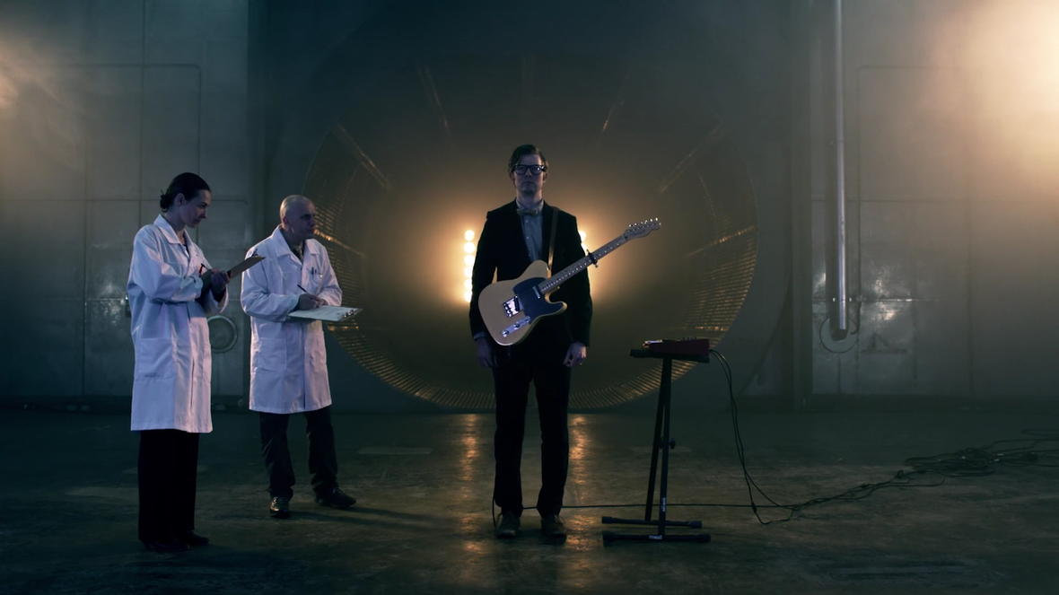 Public Service Broadcasting get mechanical in the video for 'Progress'