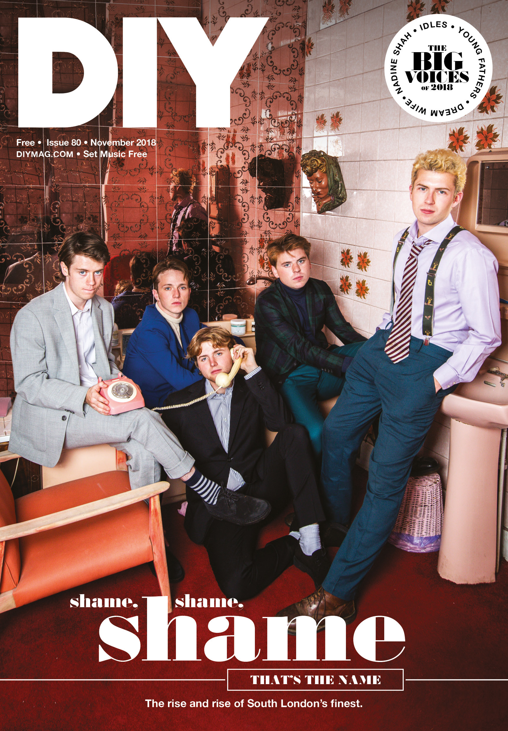 Shame, Nadine Shah, Dream Wife, Young Fathers, IDLES: it's the November issue of DIY!
