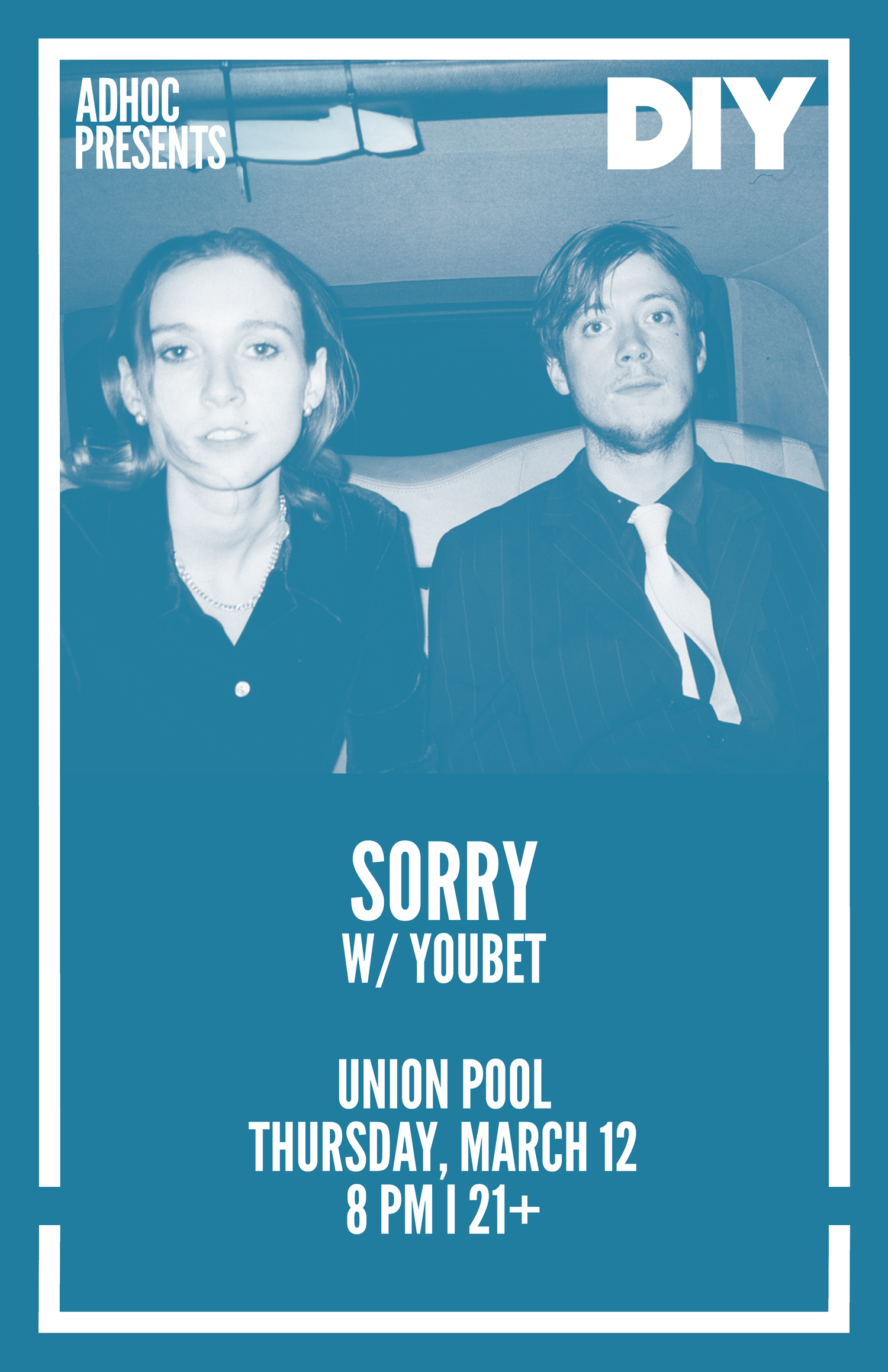 DIY & NY promoters AdHoc team up for Sorry's upcoming New York headline show