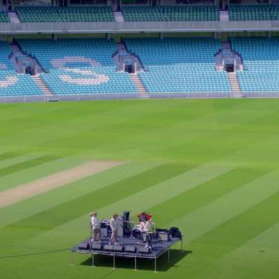 Sports Team perform 'Stations of The Cross' at The Oval