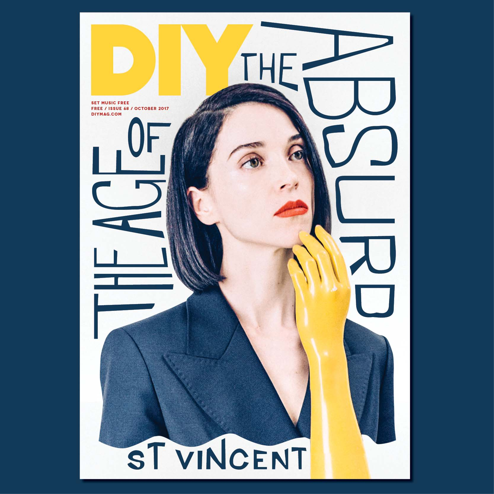St Vincent is on the cover of the October issue of DIY!