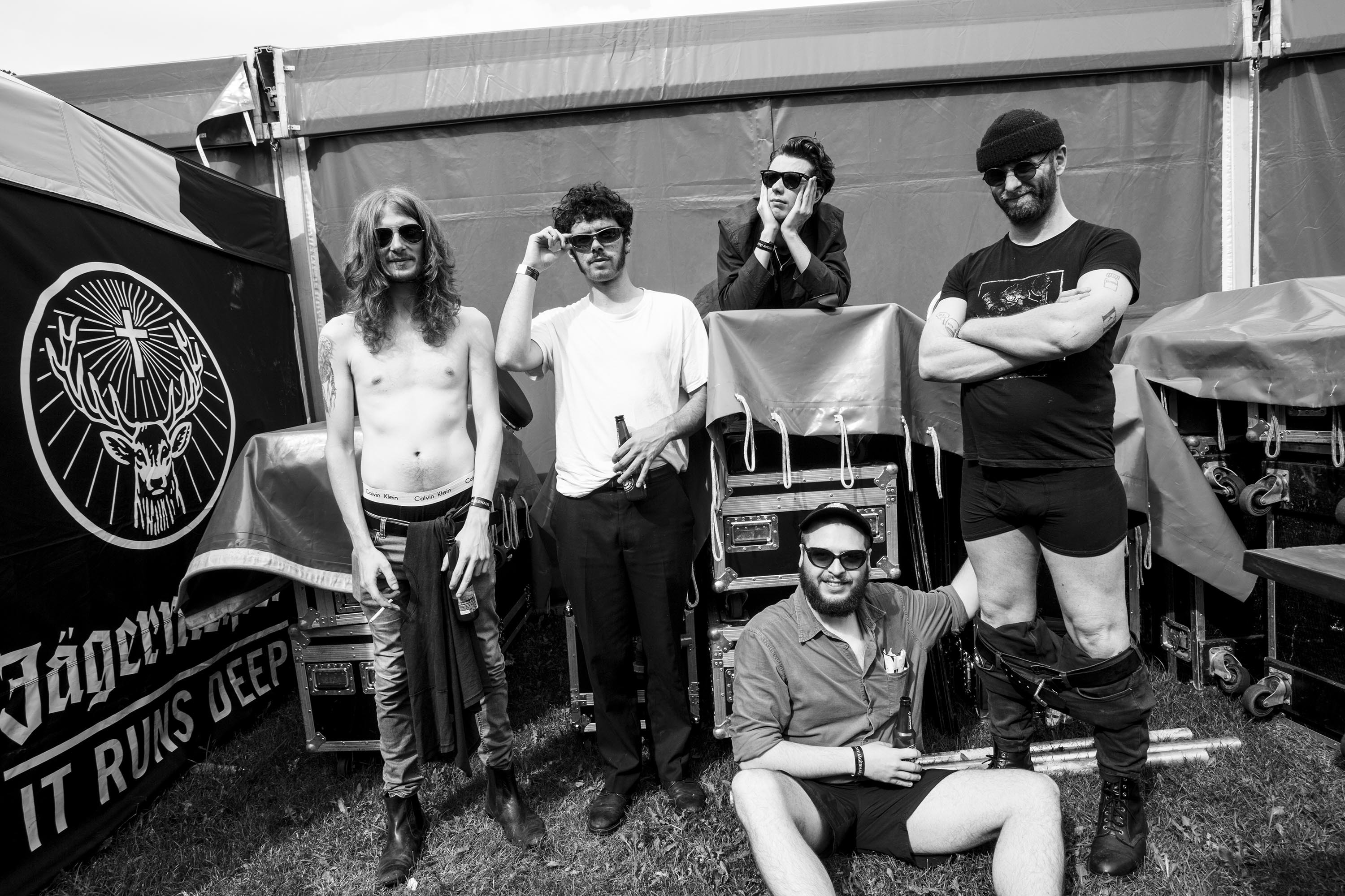 Sweaty Palms share grotty, grinding new track 'La Peste' as part of Jäger Curtain Call 2018