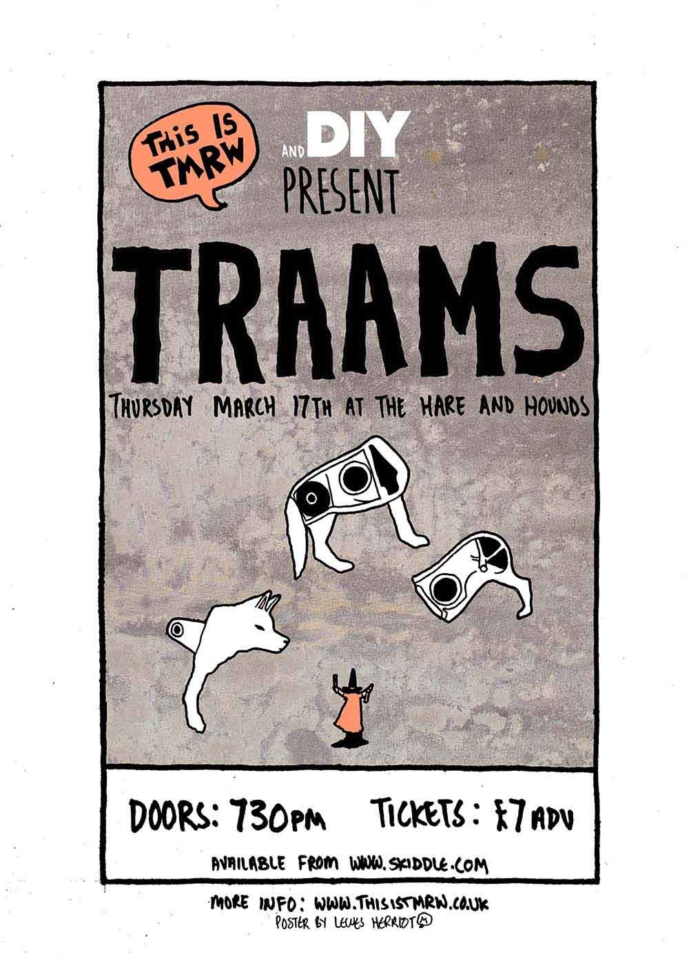 Traams to play DIY x This Is Tmrw show at Birmingham's The Hare & Hounds