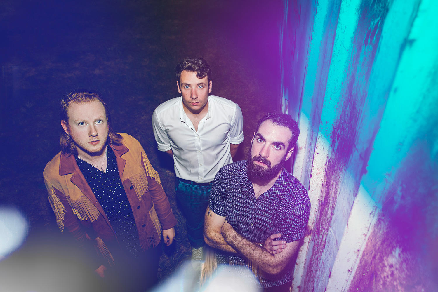 Two Door Cinema Club front the September issue of DIY