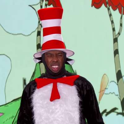 Watch Tyler, the Creator play three songs and dress up as Cat in the Hat, on Kimmel