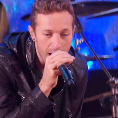 Watch a Chris Martin-fronted U2 play New York Times Square